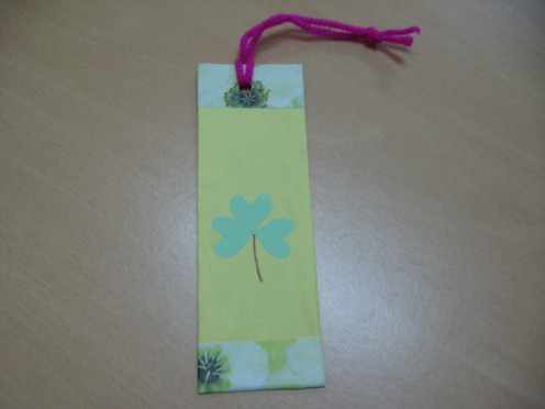 I am still using this Shamrock bookmark for my bible reading