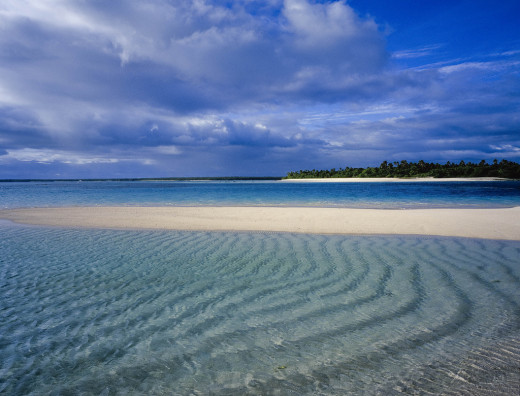 One of the pristine beaches in Tonga