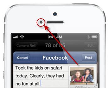 Proximity sensor in smartphone