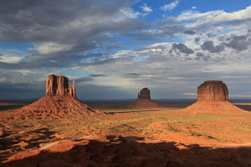 Monument Valley at Sunset, USA.