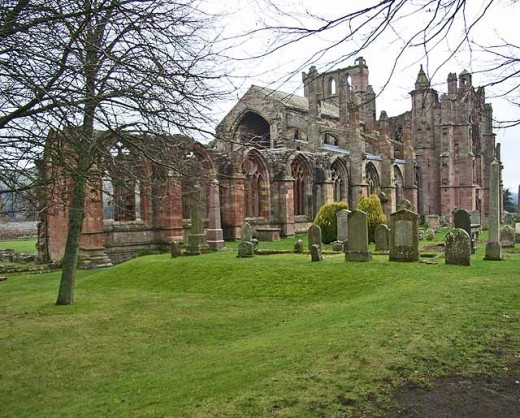 Melrose Abbey - haunted by a wizard?