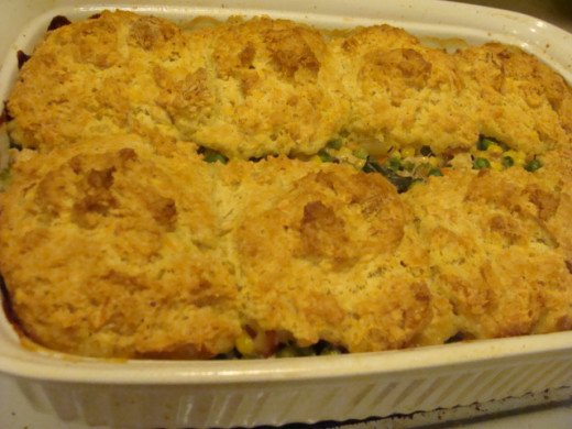 ... Biscuit Crust Topping for Leftover Chicken, Turkey or Beef Pot Pie