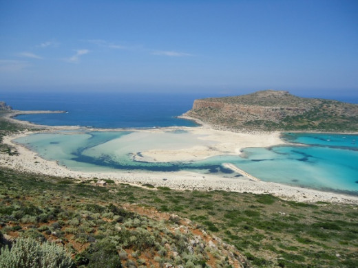 Balos Lagoon view from the mountain