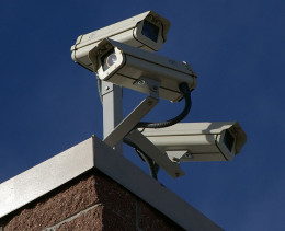 Multiple cameras offer better surveillance than a single PTZ camera, at the cost of aesthetics.