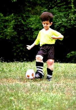 Our BEST kicker - but you should see what he can do with his HEADERS...