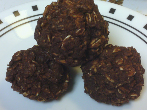 Chocolate Oatmeal Energy Bites.
