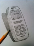How to Draw a Cell Phone