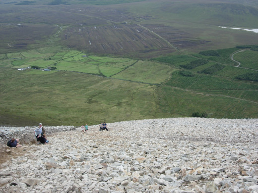 This is the tough part of the climb-Croagh patrick