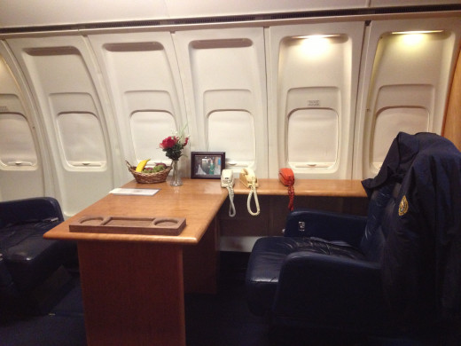 The President's office on board Air Force One.