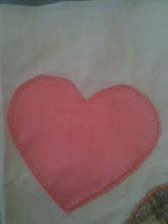 The Heart with the most forgiving stitch..the Blanket stitch. This is my favorite stitch.