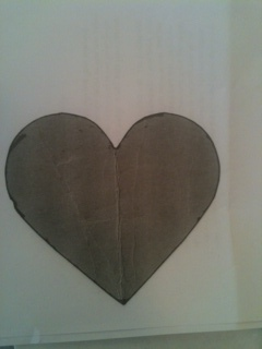 Trace this heart or anything you wish for your pattern