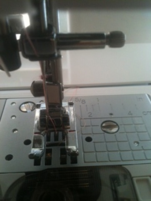 The sewing machine is ready to go
