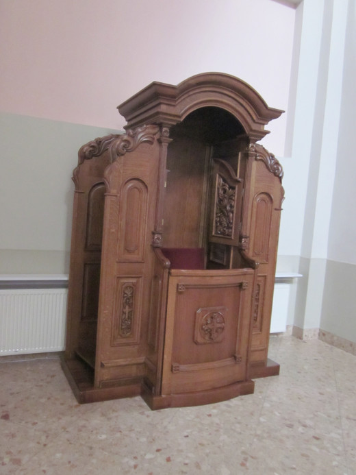 A traditional Roman Catholic confessional Lent is a time of Penance as well as reflection.