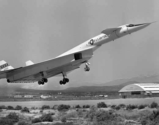 XB-70 taking off