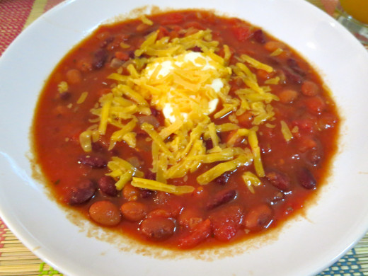 My chili... I'm getting hungry just looking at the pic.  Yum!
