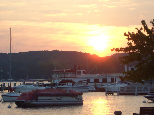 Sunset at Lake Geneva, Wisconsin