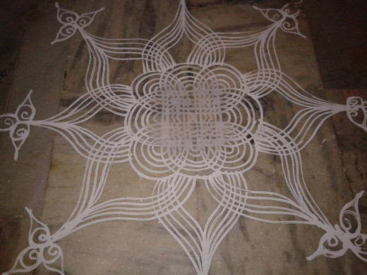 Kolam put for Karthikai