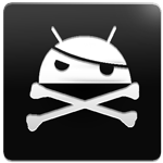 The icon which is shown in your app drawer, which tells you whether your android phone is rooted or not.