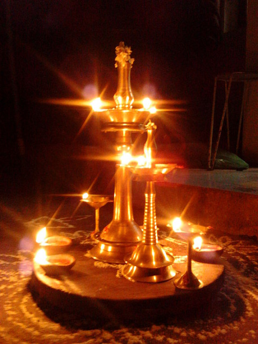 Nilavilakku lit up for Karthikai Deepam