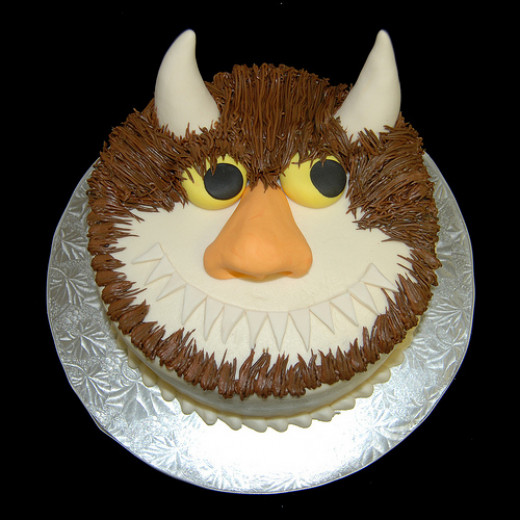 Monster with horns cake