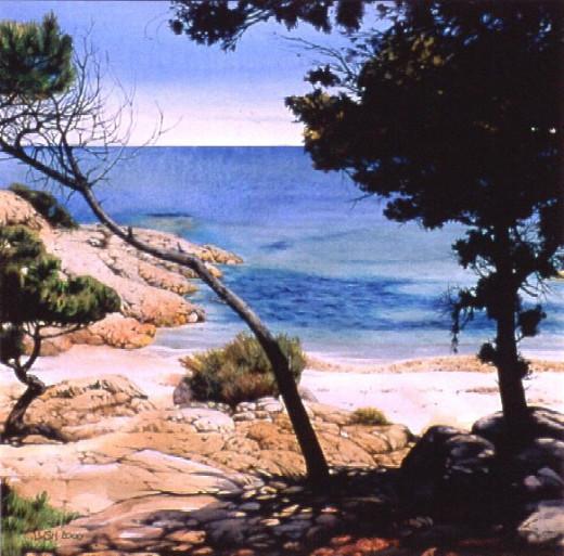 """Sardinian Beach"" by Helen Lush"