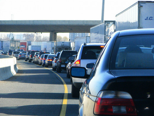 Lengthy commutes in heavy traffic can cause significant stress.