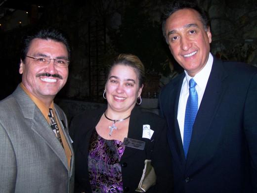 Superintendent Dr. Jasso, Lisa Salazar and Former Mayor Henry Cisneros at a legislative function.