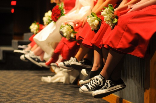 Converse shoes wedding party!