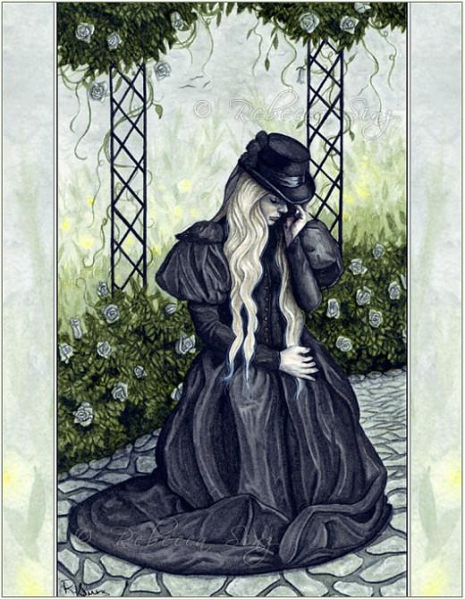 The mourning garden.