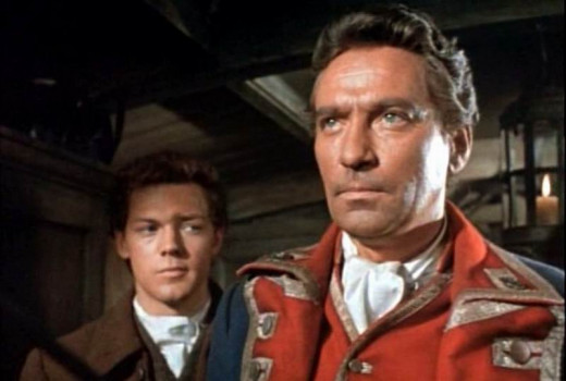 James MacArthur and Peter Finch in Kidnapped (1960)