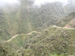 Mountain biking down the World's Most Dangerous Road, Bolivia