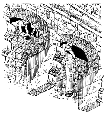 Illustration of a Machicolation