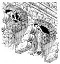 Illustration of a Machicolation
