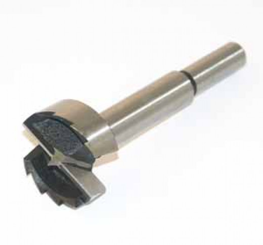 A forstner bit, useful for creating cavities in soft materials.