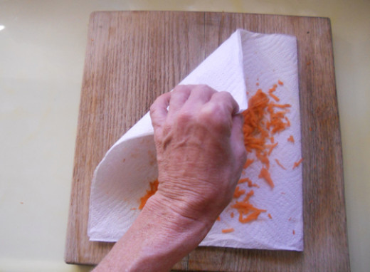 quick and easy clean up when you grate on a paper towel!