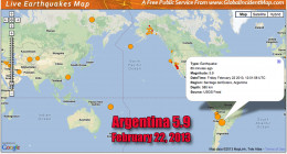 South America is experiencing volcanic and earthquake activity daily.