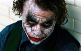 Heath Ledger as the Joker in Christopher Nolan's The Dark Knight.