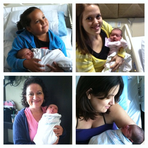 Big sister Faith & Lily ~ Aunt Michelle & Lily ~ Grandma Sunshine & Lily ~  Mama & Lily
