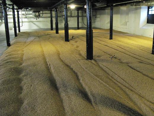 Inside the malthouse at the Highland Park Distillery.