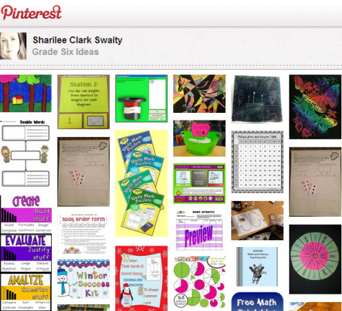 Screen shot of Pinterest, one of the best place to find teaching ideas.