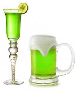 """""""Irish Kiss"""" and green colored Irish beer."""