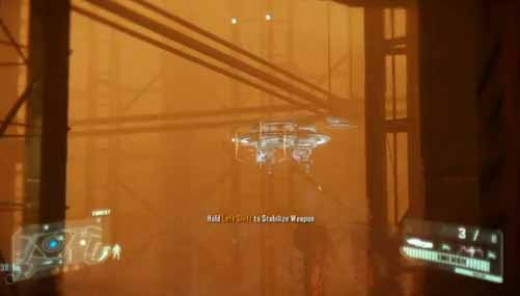 Crysis 3 Destroy the Turret with the Predator Bow before disabling the nexus