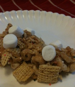 Cake Batter Gooey Cereal Treats-Recipe