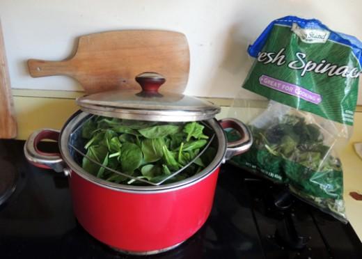 steam spinach