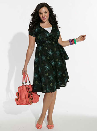 wrap dresses are good for people who have a wide waist size (apple shape) it conceals the missection