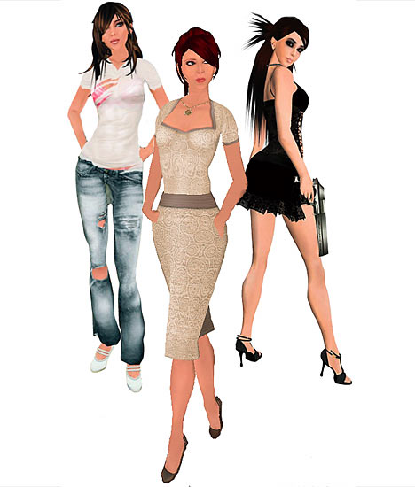 example of what a fashion designer is selling on second life
