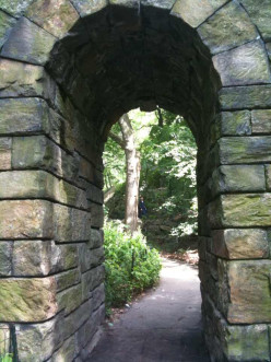One of the trails in Central Park