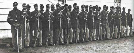 Although black soldiers fought for their country, they were not U.S. citizens. Frederick Douglass said that by bearing arms 'no one can deny that [they have] earned the right to citizenship.'