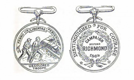 Instituted by Major General Benjamin Butler in 1864 to honour the bravery of African-American troops, the Butler Medal was the only one ever struck for black troops. It is inscribed: 'Freedom will be theirs by the sword.'
