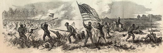 On the 7th June 1863 a small Union force was attacked by 1500 Texans at Milliken's Bend, Louisiana. The bravery of the African-Americans fighting the day earned them new respect, paving the way for black enlistment.